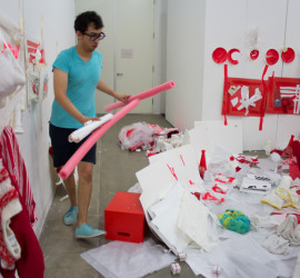 Red and White, Guggenheim Gallery at Chapman University, 2012 (photo by Marcus Herse)